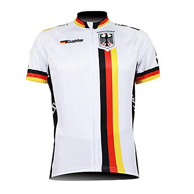 Kooplus Herre Kortærmet Cykeltrøje - Hvid Cykel Trøje, Åndbart