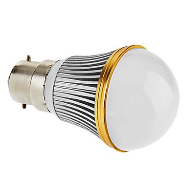 prigušiti B22 3W 200-230lm 3000-3500K toplo bijelo svjetlo vodio loptu žarulja (220v)
