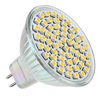 3W 250-350lm GU5.3(MR16) LED Spot Lampen MR16 60 LED-Perlen SMD 3528 Warmes Weiß 12V