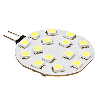 210lm G4 LED-lamper med G-sokkel 15 LED Perler SMD 5050 Naturlig hvid 12V