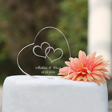 Vârfuri de Tort Temă Grădină Temă Clasică Inimi Cuplu Clasic Cristal Nuntă Aniversare Cheful Burlacelor cu Cutie de Cadouri