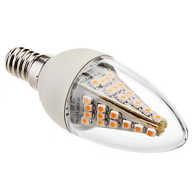 2800lm E14 LED Kerzen-Glühbirnen C35 48 LED-Perlen SMD 5050 Dekorativ Warmes Weiß 220-240V
