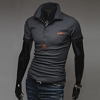 För män axelvadd Kortärmad tröja POLO