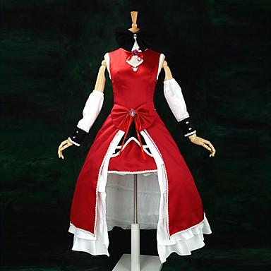 Inspirado por Mahou Shoujo Madoka Magica Kyoko Sakura Animé Disfraces de cosplay Trajes Cosplay / Vestidos Retazos Sin Mangas Vestido / Mangas / Cinta Para Mujer / Satín