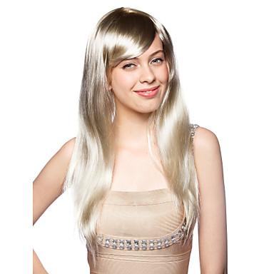 sin tapa larga resistente al calor de vestuario de moda partido peluca
