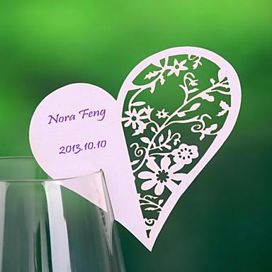 abordables Porte-Noms & Marque-Places-perle papier place cartes 12 pvc sac placecard titulaires de réception de mariage