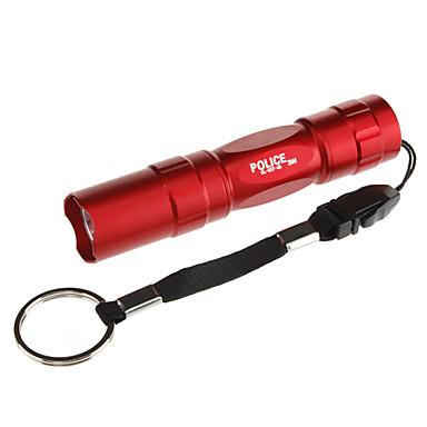 abordables Lampes & Lanternes de Camping-Lampes Torches LED LED Émetteurs 100 lm 1 Mode d'Eclairage Tactique Usage quotidien Marron Rouge Bleu