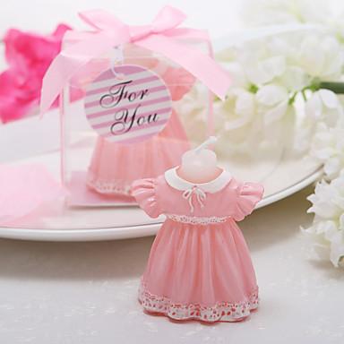 schöne schöne rosa Rock Kerze begünstigen elegante Hochzeitsbevorzugungen