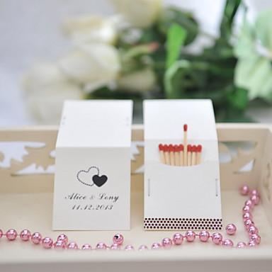 Carton Decoratiuni nunta-50Piesă/Set Personalizat Chibritele nu sunt incluse.