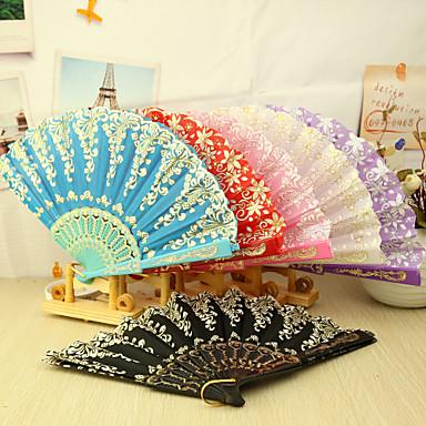 Bumbac Ventilatoare și umbrele de soare-# Piece / Set Ventilatoare de Mână Temă Asiatică Temă Florală 16 1/2