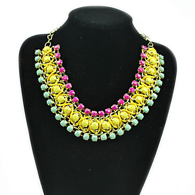 Layered Handmade Bib Necklace