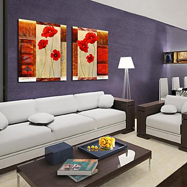 Stretched Canvas Print Canvas Set Botanical Two Panels Horizontal Print Wall Decor Home Decoration