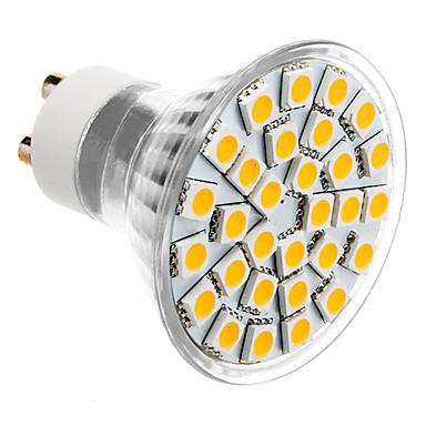 SENCART 3500 lm GU10 Spoturi LED MR16 30 led-uri SMD 5050 Alb Cald AC 85-265V