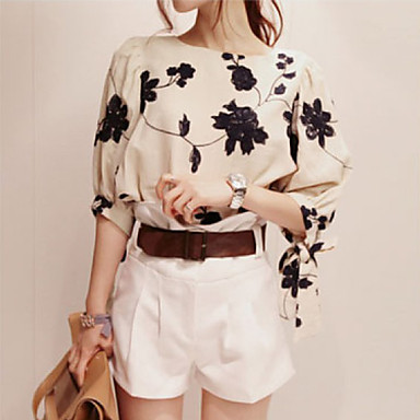 Women's Embroidery Puff Sleeve Top