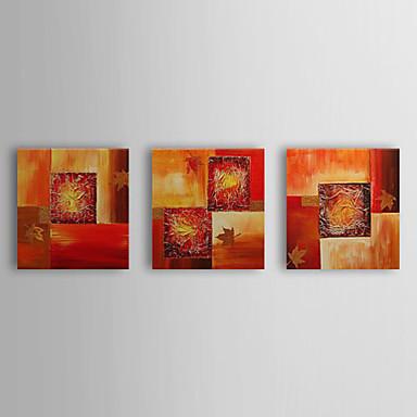 Ručno oslikana SažetakStil Tri plohe Platno Hang oslikana uljanim bojama For Početna Dekoracija