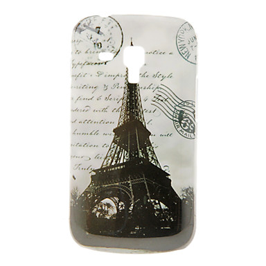 Vintage Eiffelova věž vzor Pevné pouzdro pro Samsung Galaxy Trend Duos S7562