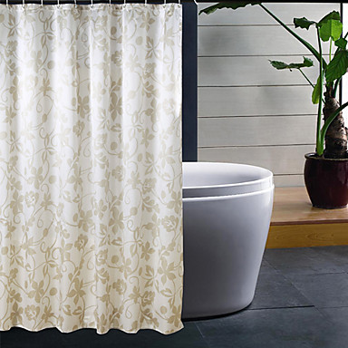 Polyester Thick Waterproof Bathroom Shower Curtain