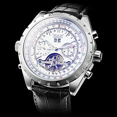 Мужской Наручные часы Механические часы С гравировкой С автоподзаводом Кожа Группа Люкс Черный