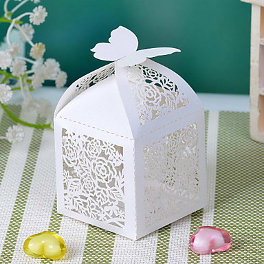 Cuboid Card Paper Favor Holder With Favor Boxes-12 Wedding Favors