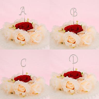 Vârfuri de Tort Nepersonalizat Monogramă Crom Nuntă / Aniversare / Petrecerea Bridal Shower / Quinceañera & Dulcele 16 / Zi de Naștere