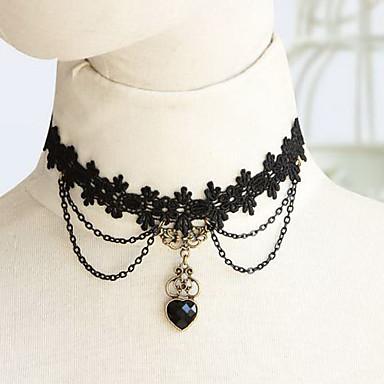 Mücevher Klasik / Geleneksel Lolita Kolye Lolita Kadın's Lolita Aksesuarları Dantel Kolye Dantel / Reçine / alaşım