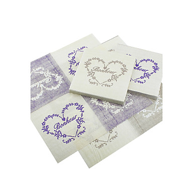 Beverage Napkins - Heart Print - Set of 20 (More Colors) Wedding Reception
