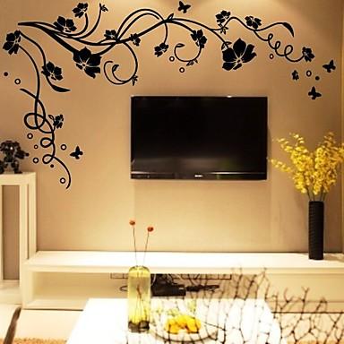 levne Samolepky na zeď-diy nástěnné samolepky květ větve stromů umývatelné nástěnné obtisky 1ks