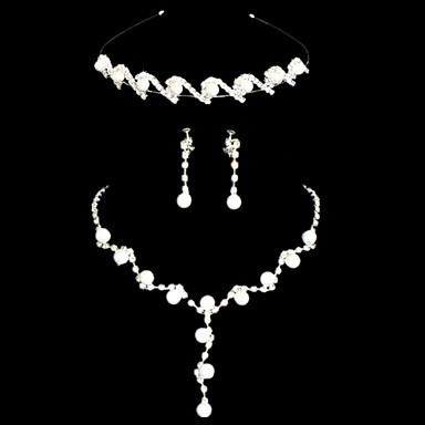 Women's Imitation Pearl / Rhinestone Jewelry Set - Others Silver / Wedding / Party / Special Occasion / Anniversary / Birthday