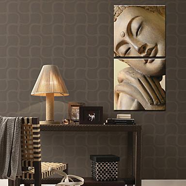 Aufgespannte Leinwandrucke Leinwand-Set Menschen Zwei Panele Vertikal Druck Wand Dekoration Haus Dekoration