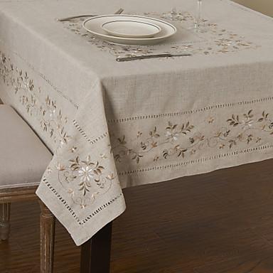 Amestec In / Bumbac Pătrat Fețe de masă Floral Ecologic Decoratiuni de tabla