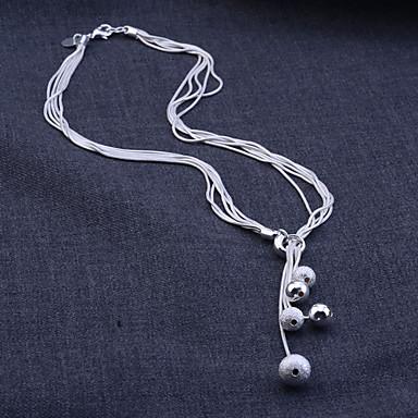 Damen Sterling Silber / Silber Schlange Schmuck-Set Ohrringe / Halsketten - Grundlegend / Brautkleidung Weiß Schmuckset / Anhängerketten