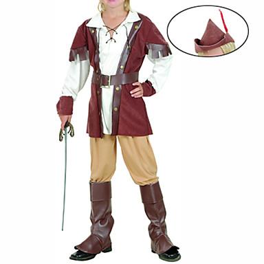 Korsan Cosplay Kostümleri Parti Kostümleri Çocuklar için Cadılar Bayramı Çocukların Günü Festival / Tatil Kıyafetler Kırk Yama