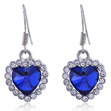 Damen Kristall Tropfen-Ohrringe - Krystall Herz, Liebe Für Alltag