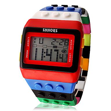 Pentru femei Piloane de Menținut Carnea Ceas digital Alarmă Calendar Cronograf LCD Plastic Bandă Prăjit Lemn Cool Multicolor