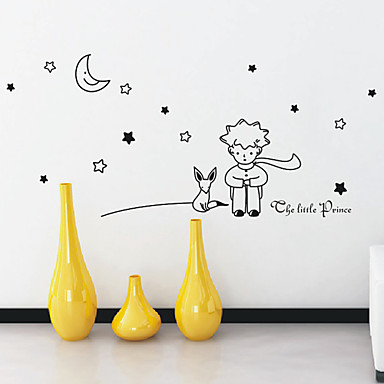 cartoon little prince wall stickers 740000 2017. Black Bedroom Furniture Sets. Home Design Ideas