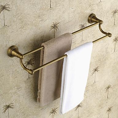 Havlu Çubuğu Yüksek kalite Antik Pirinç 1 parça - Otel banyo 2 kulplu çubuk