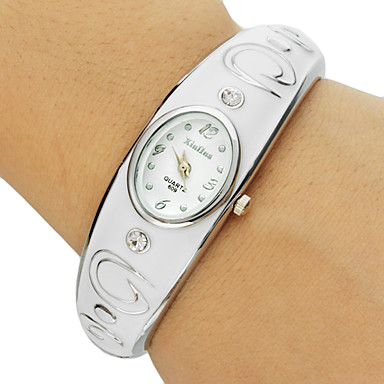 Dame Modeur Armbåndsur Quartz Rustfrit stål Bånd Armring Elegant Hvid Pink Lilla