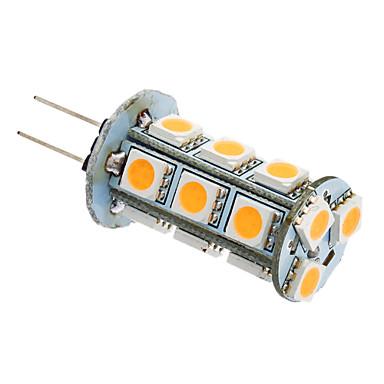 2W 180-220lm G4 / GU4(MR11) LED 콘 조명 T 18 LED 비즈 SMD 5050 따뜻한 화이트 / 차가운 화이트 12V