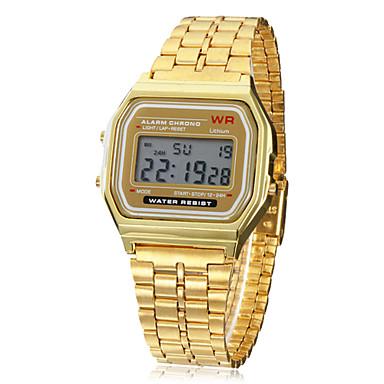 Erkek Bilek Saati / Dijital saat Alarm / Takvim / Kronograf Alaşım Bant İhtişam Altın Rengi / LCD / SODA AG4