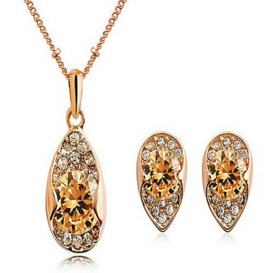 Jewelry Set Zircon Cubic Zirconia Alloy Drop Rings Earrings Necklaces Bracelets & Bangles For Party Daily Wedding Gifts