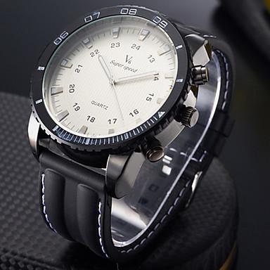 V6 Pánské Sportovní hodinky Vojenské hodinky Módní hodinky Náramkové hodinky Křemenný Japonské Quartz Velký ciferník Silikon Kapela Cool