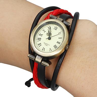 Dámské Módní hodinky Náramkové hodinky japonština Křemenný Pravá kůže Kapela Cikánské Černá Bílá Červená Hnědá Khaki