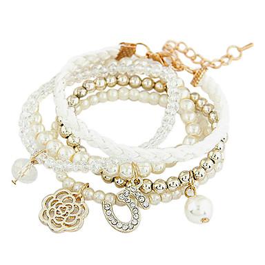 Dame Bratari Strand La modă Confecționat Manual Multistratificat bijuterii de lux European Perle Imitație de Perle Diamante Artificiale