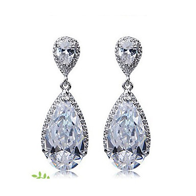 Women's Cubic Zirconia Earrings - Fashion Clear For Daily