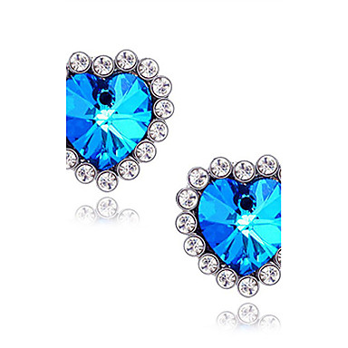 Women's Stud Earrings Synthetic Sapphire Luxury Love Synthetic Gemstones Imitation Diamond Alloy Star Heart Jewelry Daily Costume Jewelry