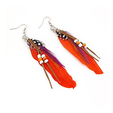 Damen Tropfen-Ohrringe - Rose Rot Blau Ohrringe Für Alltag