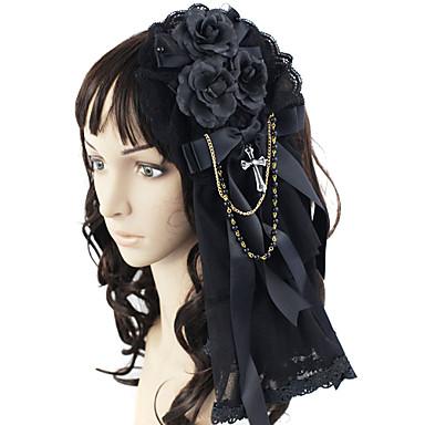 Bijuterii Lolita Stil Gotic Veșminte de cap Bărbați / Pentru femei Negru Lolita Accesorii Nod Papion Accesoriu de Păr Dantelă / Pietre