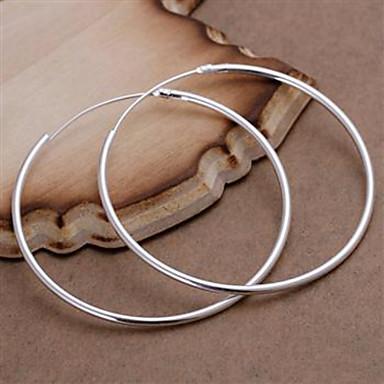 Cercei Rotunzi  Plastic Argilă Oval Shape Argintiu Bijuterii Pentru Petrecere Zilnic Casual