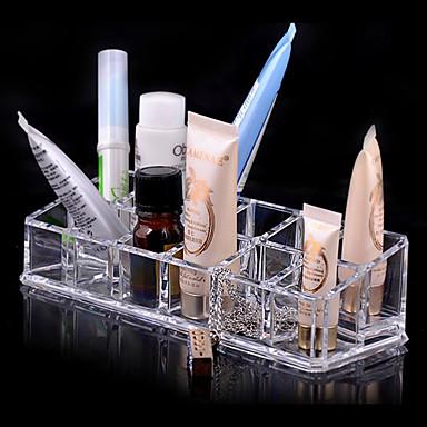 1 pcs Makyaj Aletleri Cosmetics Storage Makyaj Arkilik / Plastik Dört Köşeli Günlük Kozmetik Tımar Malzemeleri