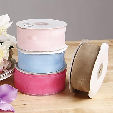 Pevná barva Organza Svatební stuhy Piece / Set Organzová stuha
